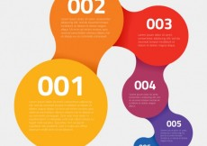 Free vector Colorful circles infographic #12763