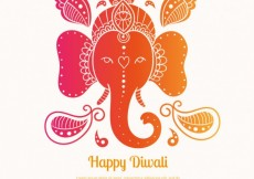 Free vector Colorful Diwali elephant background #18505