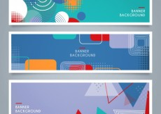 Free vector Colorful geometric banners #14052