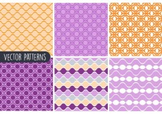 Free vector Colorful Geometric Vector Pattern Set #19487