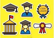 Free vector Colorful Graduate Vector Icons #20081