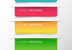 Free vector Colorful infographic banners #16026