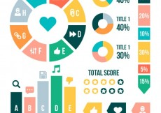 Free vector Colorful infographic #17472