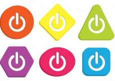 Free vector Colorful On Off Button Vectors #19909