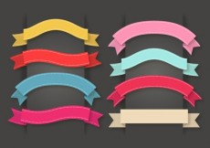 Free vector Colorful set of ribbons #17559