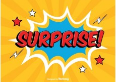 Free vector Comic Style Surprise Illustration #17983