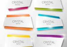 Free vector Crystal banners #17812