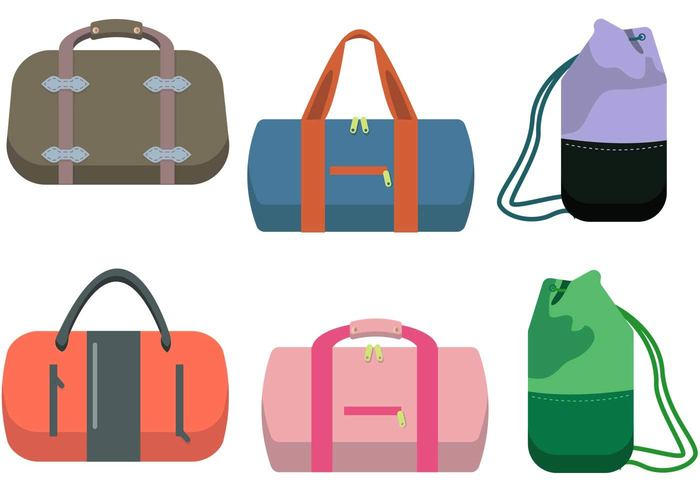Free Vector Duffle Bag Vector Set 13965 My Graphic Hunt