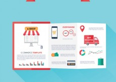 Free vector E-commerce template #18859