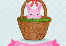 Free vector Easter bunny on a basket #18362