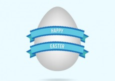 Free vector Easter egg with blue ribbon #19083