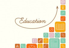 Free vector Education icons background #13432