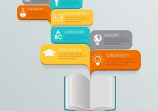 Free vector Education infographic #14373