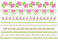 Free vector Embroidery Rose Vector Banners #14909