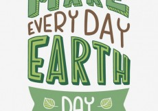 Free vector Everyday is earth day #19298