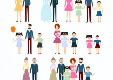 Free vector Family icons collection #17858