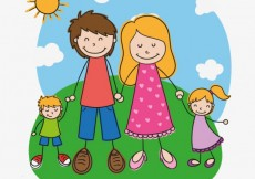 Free vector Family in hand drawn style #18815