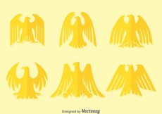 Free vector Flat Deco Golden Eagle Vectors #13441