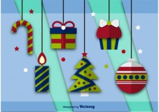 Free vector Flat Vector Christmas Icons #19389