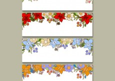Free vector Floral banners collection #19450