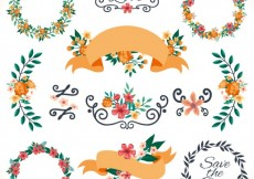Free vector Floral decoration for wedding #15024