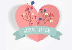Free vector Floral heart for mother day #12363