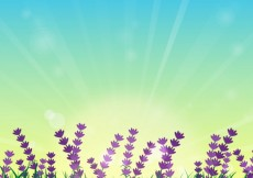 Free vector Flower field with sunrise #19205