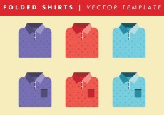 Free vector Folded Shirts Template Vector Free #14959