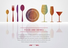 Free vector Food and drinks background #14683