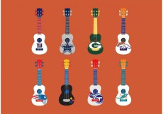 Free vector Football Themed Ukelele Vector Set #19369