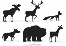 Free vector Forest Animal Silhouettes #12462
