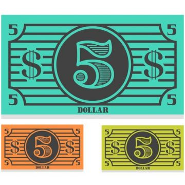 Free vector Free 5 Dollar Bill Vector #15195