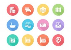 Free vector Free Flat Real Estate Vector Icons #15563