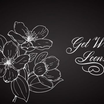 Free vector Free Flower Get Well Soon Vector Card #15179