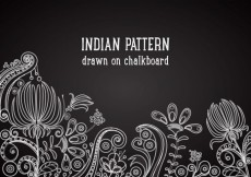 Free vector Free Indian Pattern On Blackboard Vector Background #15203