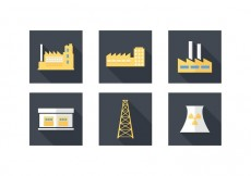 Free vector Free Industrial Building Vector Icons #19367