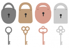 Free vector Free Key and Lock Vector #14830