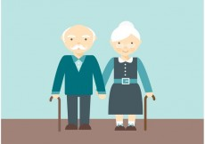 Free vector Free Lovely Senior Couple Vector #17455