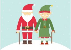Free vector Free Senior Couple Dressed In Christmas Costumes Vector #16890