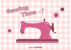 Free vector Free Vintage Sewing Machine Vector #18192