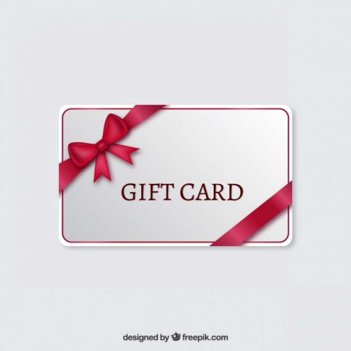 Free vector Gift card with a red ribbon #13492 My Graphic Hunt