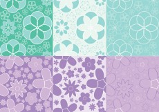 Free vector Girly Flowers Pattern Vectors #14266