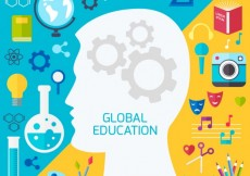 Free vector Global education background #12741