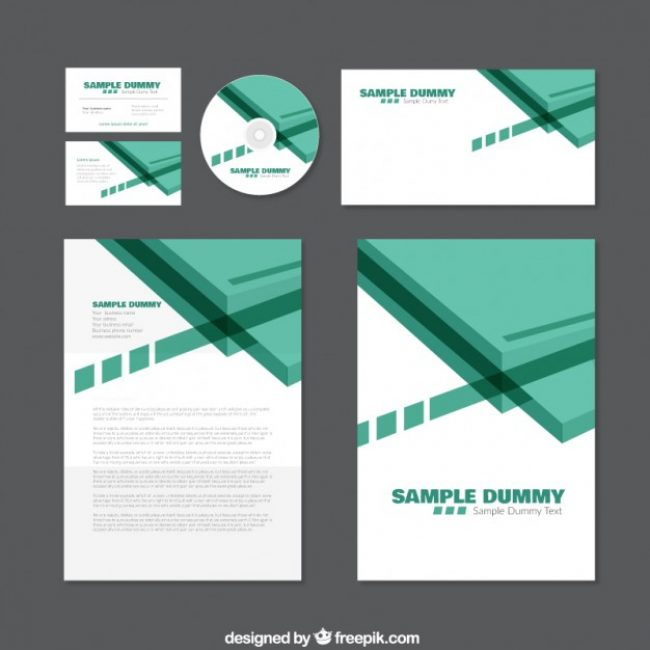 free vector green corporate identity #12765 | my graphic hunt, Powerpoint templates
