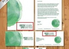 Free vector Green watercolor stationery #18663