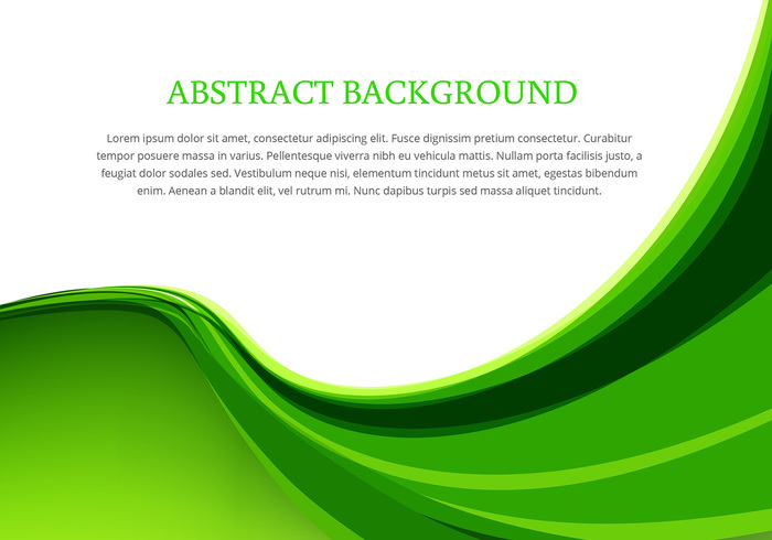 free vector green wave background design vector 14458