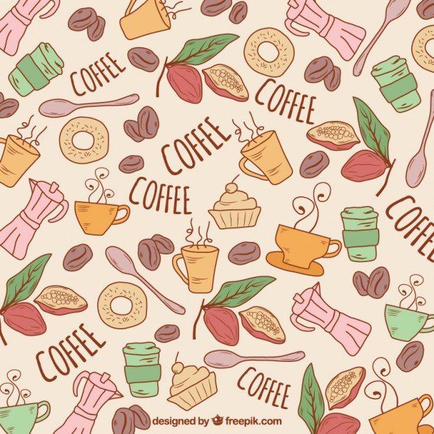 Free Vector Hand Drawn Coffee Background #15805