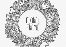 Free vector Hand drawn floral frame #12989