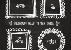 Free vector Hand drawn frames on blackboard #18479