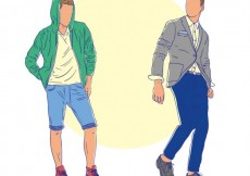 Free vector Hand drawn male models #16477